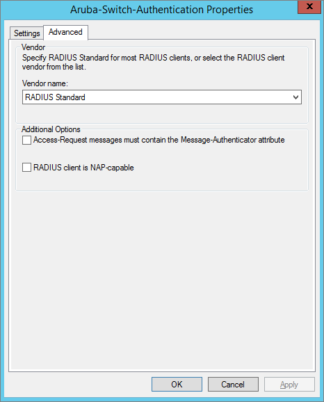 Network Device Management with RADIUS Authentication using